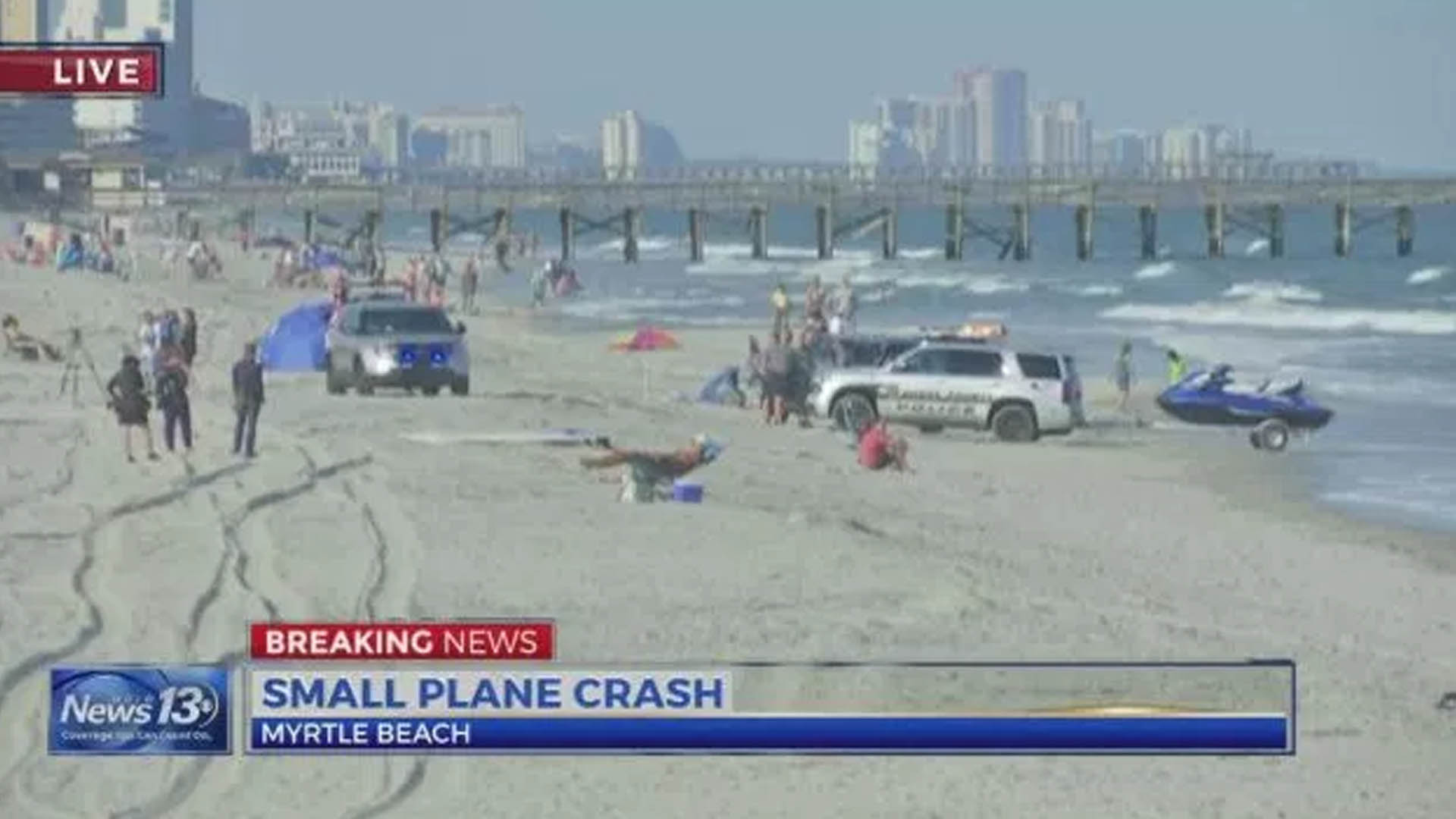 Plane Crash In Ocean At Myrtle Beach